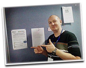Sikosis with the Haiku GSoC 2008 Flyer